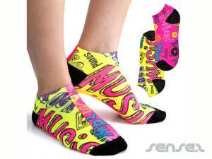 Allover Full Colour Printed Socken