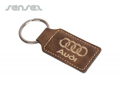 Exec Leatherette Key Tags   Promotional Fabric Keyrings