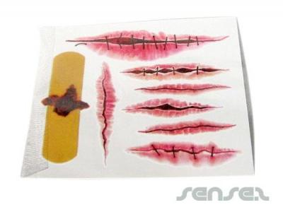 Wound Temporary Tattoos
