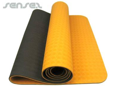Textured Eco Yoga Mats Two Tone Promotional Sporting
