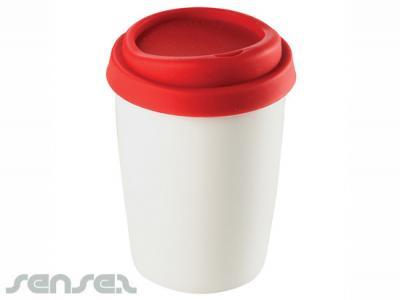 Ceramic Mugs With Silicone Lids Promotional Ceramic Mugs