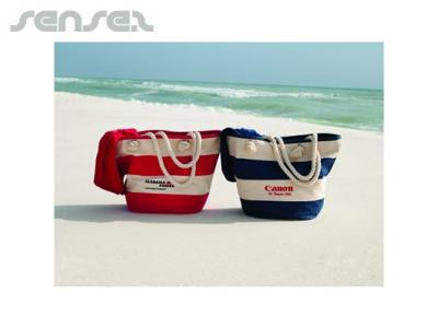 Striped Cotton Beach Bags